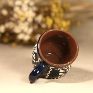 Pahar țuică albastru model 22