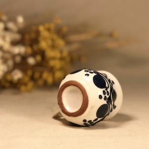 Pahar țuică alb albastru model 13