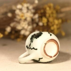 Pahar țuică alb verde model 13