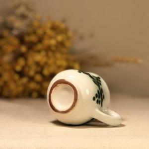 Pahar țuică alb verde model 23