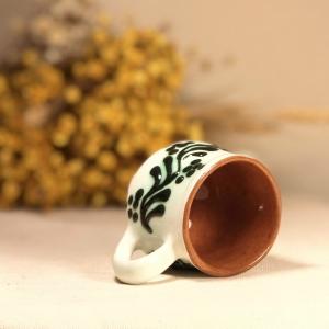 Pahar țuică alb verde model 22