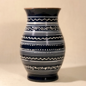 Vază albastră 20 cm model 10