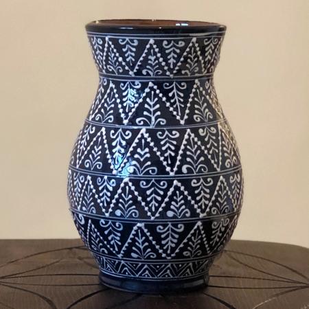 Vază albastră model 10