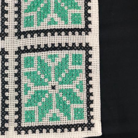 ZSTR - Tricou femei cu broderie tradițională chenar, mărime S2