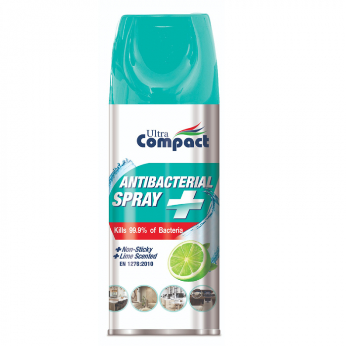 Spray Antibacterian, Lime, Ultra Compact, 400 ml 0