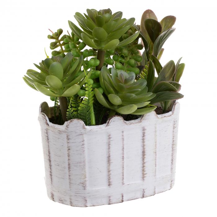 Aranjament plante artificiale in ghiveci 12x8x16 cm 0