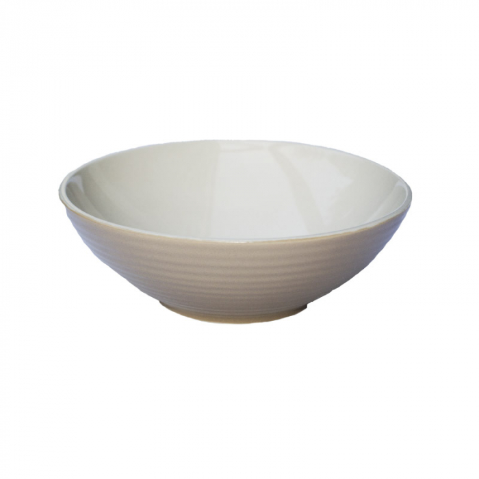 Bol ceramica aspect mat bej 18x5.5 cm 0