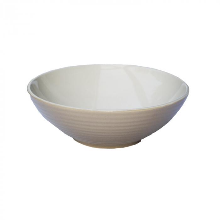 Bol ceramica aspect mat bej 18x5.5 cm 1