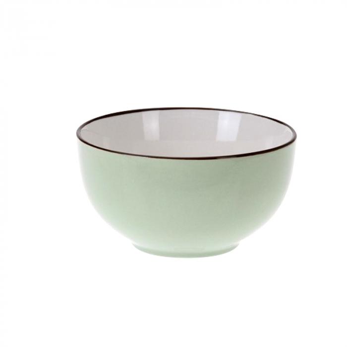 Bol de portelan, culoare verde, 7 cm 0