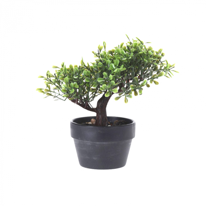 Bonsai artificial 19 cm verde deschis 7