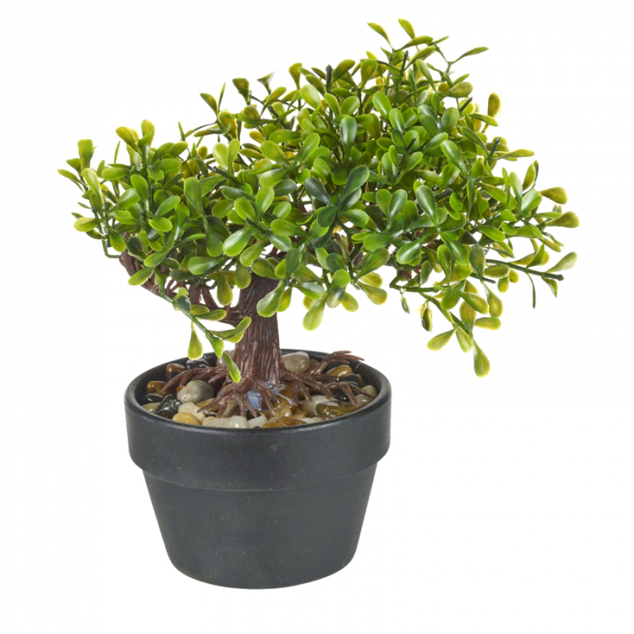 Bonsai artificial 19 cm verde deschis 1