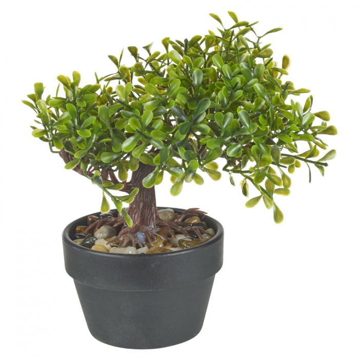 Bonsai artificial 19 cm verde deschis 6