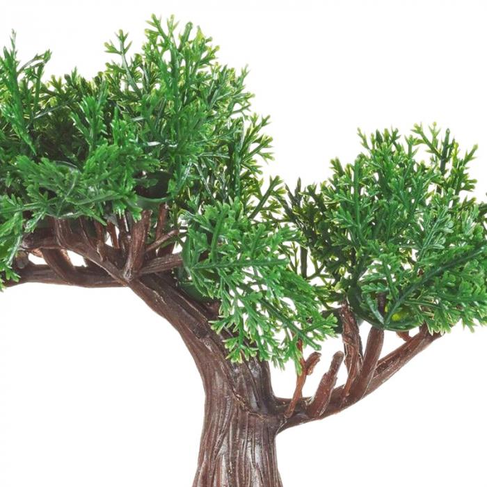 Bonsai artificial 19 cm verde inchis 3