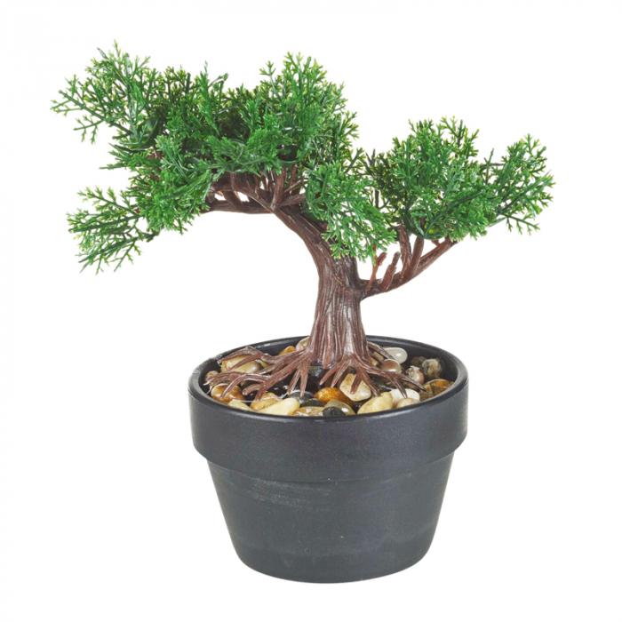 Bonsai artificial 19 cm verde inchis 0