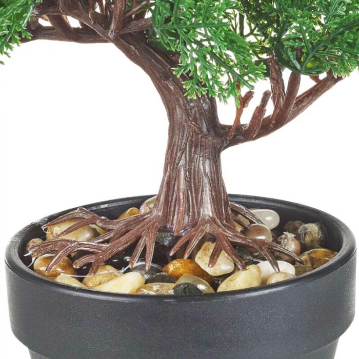 Bonsai artificial 19 cm verde inchis 5