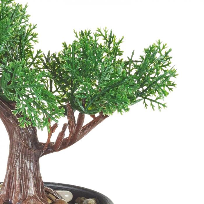 Bonsai artificial 19 cm verde inchis 4