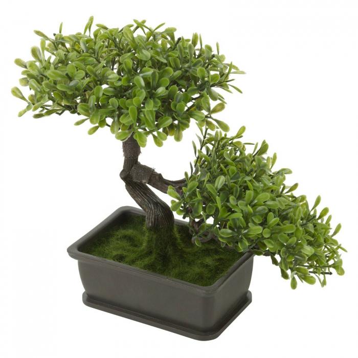 Bonsai artificial 23cm verde deschis 4
