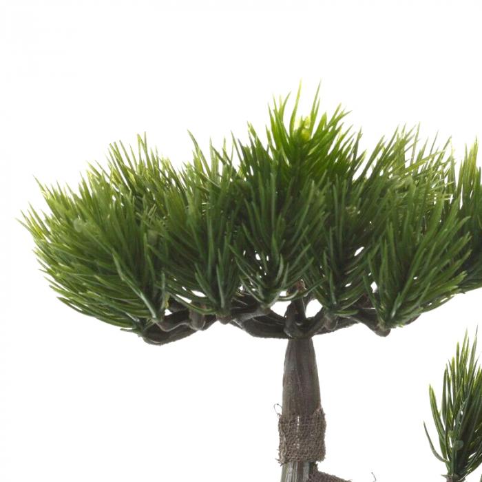 Bonsai artificial 23cm verde inchis tip pin 7