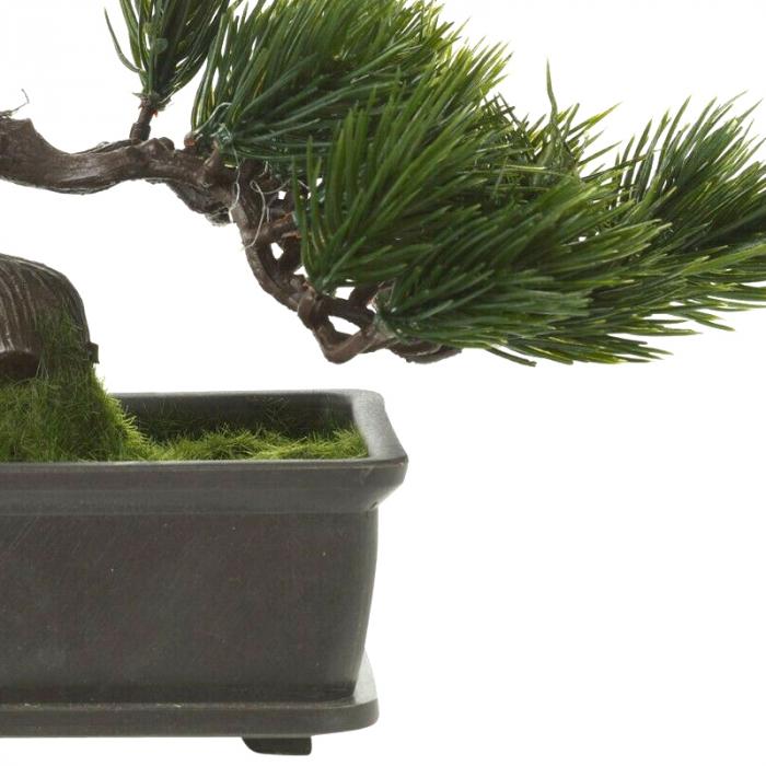 Bonsai artificial 23cm verde inchis tip pin 11