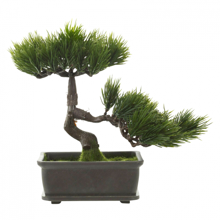 Bonsai artificial 23cm verde inchis tip pin 3