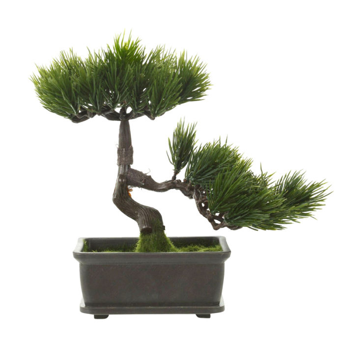 Bonsai artificial 23cm verde inchis tip pin 10