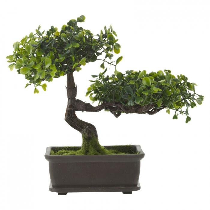 Bonsai artificial, Verde deschis si inchis, dimensiunea de 23cm [2]