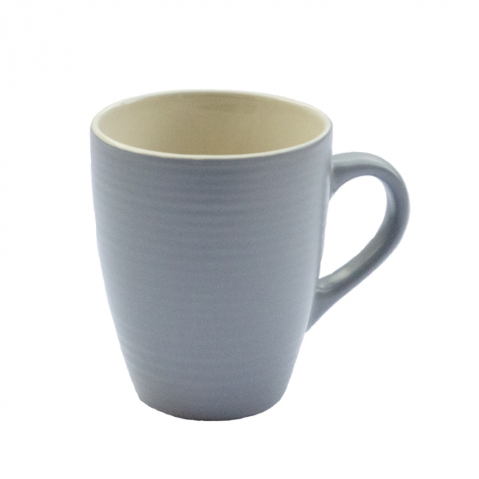 Cana ceramica, cu aspect mat, 300 ml, ceasca pentru lapte, ceai, cafea, Gri 0