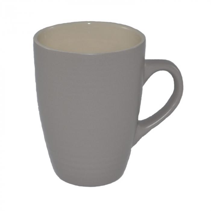 Cana din ceramica, aspect mat, Gri/bej, 300 ml 0