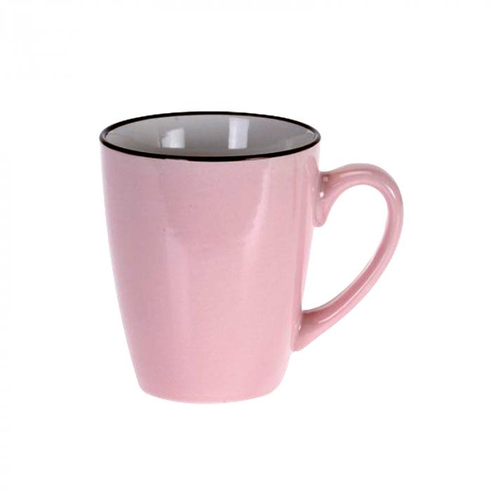 Cana din portelan, culoare Roz, 225 ml 0