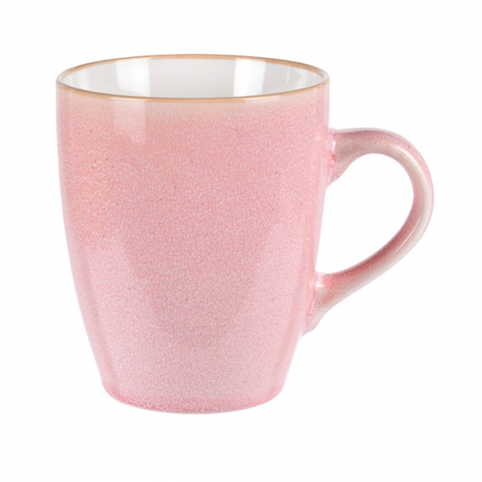 Cana portelan roz 340 ml Diametru 8.5 cm Inaltime 10 cm 0