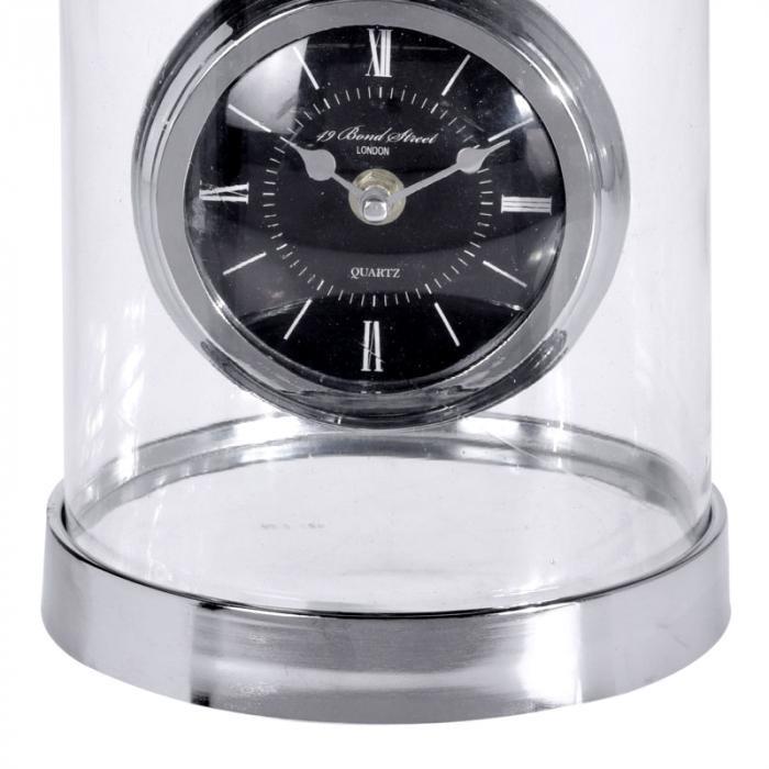 Ceas de masa in cupola sticla, inaltime 32cm, diametru 17cm [1]