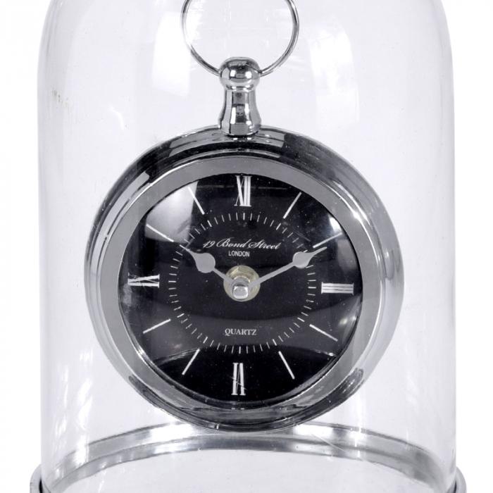 Ceas de masa in cupola sticla, inaltime 32cm, diametru 17cm [2]