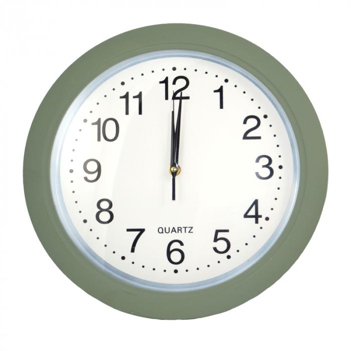 Ceas de perete, rama color olive, 30 cm 0