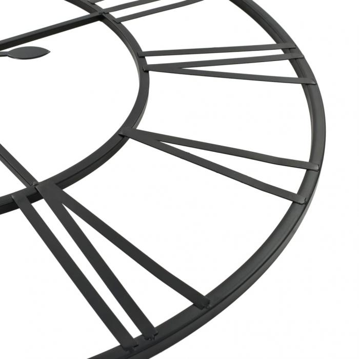 Ceas de Perete, din metal, stil Vitange, Negru, 57x3cm 4
