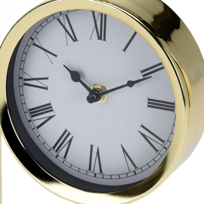 Ceas pe suport metal, stil elegant, 19x5.8x25 cm, Auriu 6