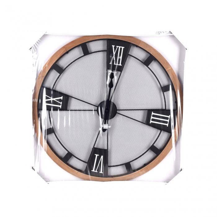 Ceas perete din metal si lemn, D 70 cm [2]