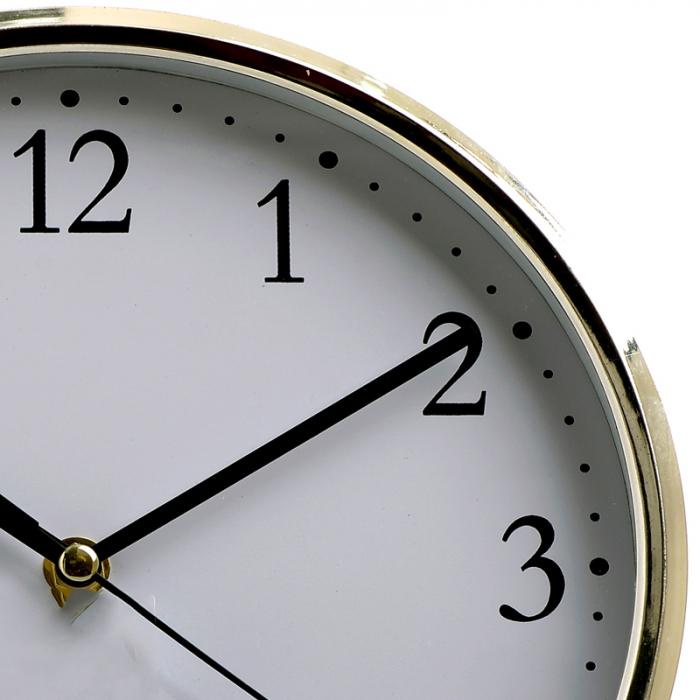 Ceas perete din plastic culoare argintie diametru 25 cm [3]
