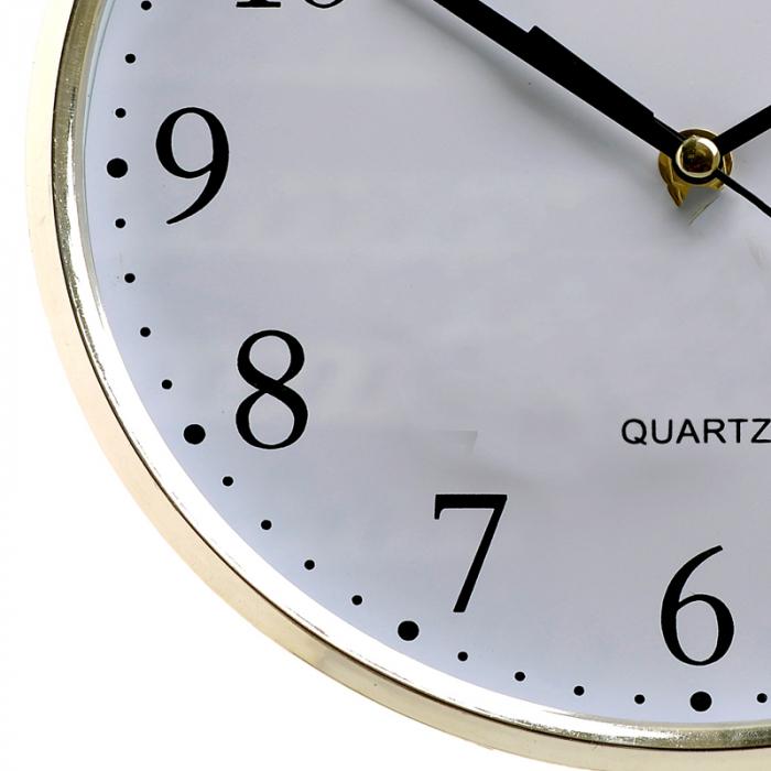 Ceas perete din plastic culoare argintie diametru 25 cm [5]