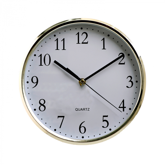 Ceas perete din plastic culoare argintie diametru 25 cm [6]