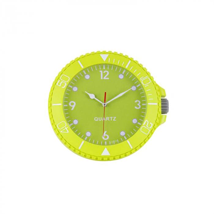 Ceas perete din plastic culorea verde diametru 26 cm 0