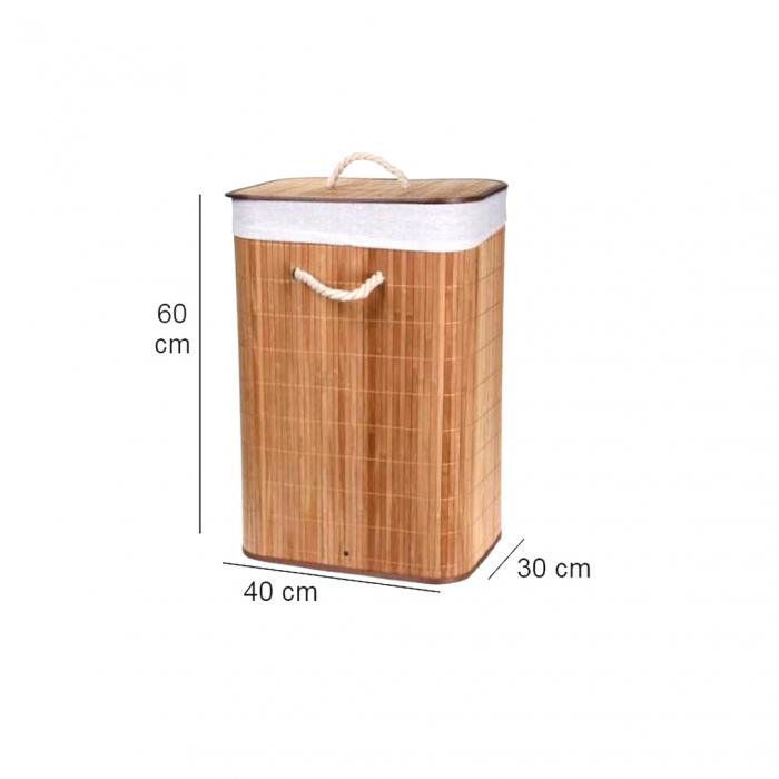 Cos rufe pliabil din bambus  40X30X60 cm [2]