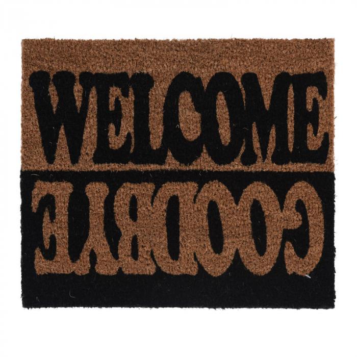Covoras intrare din fibra cocos, Dimensiune 40x60cm Welcome Goodbye 0