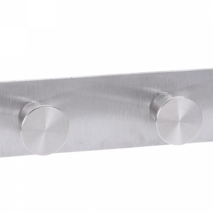 Cuier tip Umeras, pentru usa, cu 6 carlige, 39.5cm x 11cm x 3.5cm, Inox 5