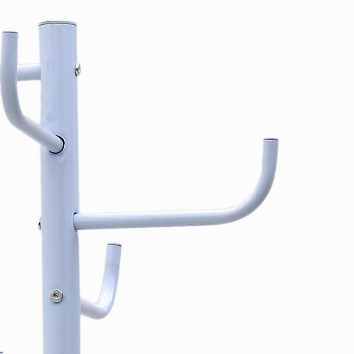 Cuier din metal, Alb, 175x50x50 cm 3