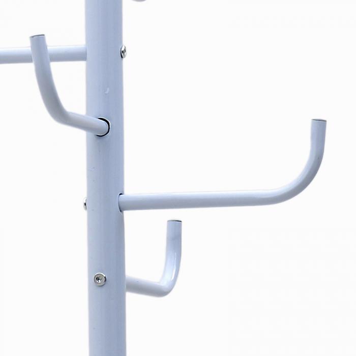 Cuier din metal, Alb, 175x50x50 cm 4