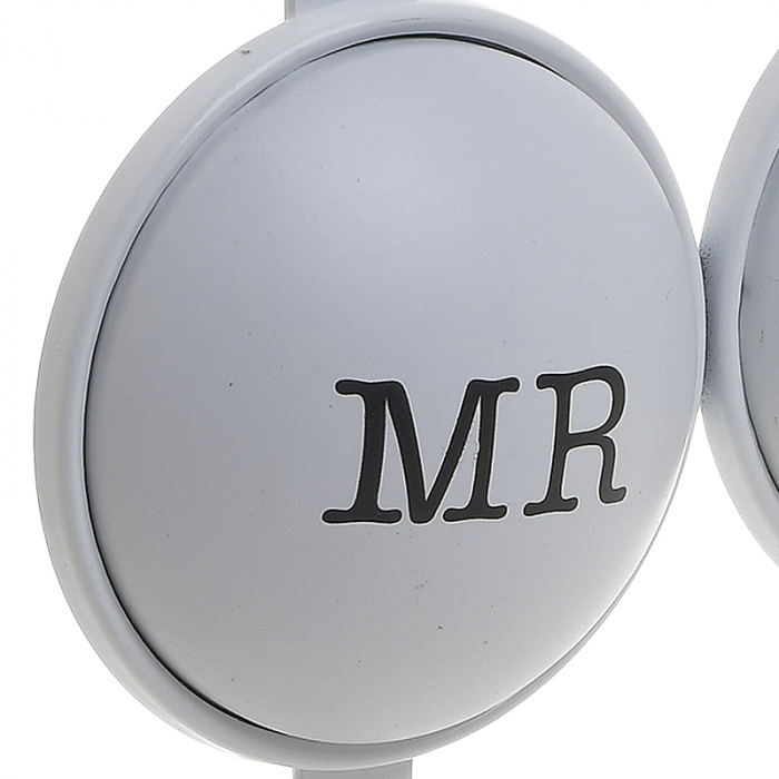 Cuier metal cu 3 carlige pentru usa 26X4X28 cm Mr&Mrs 2