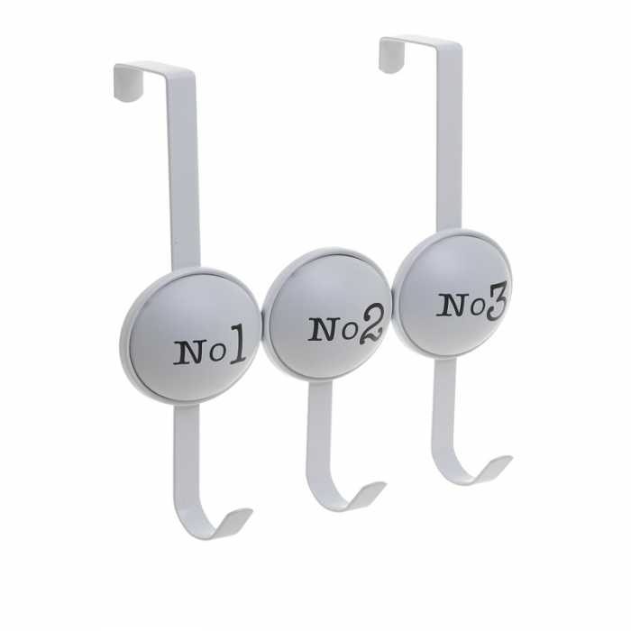Cuier metal cu 3 carlige pentru usa 26X4X28 cm No 1 2 3 [0]