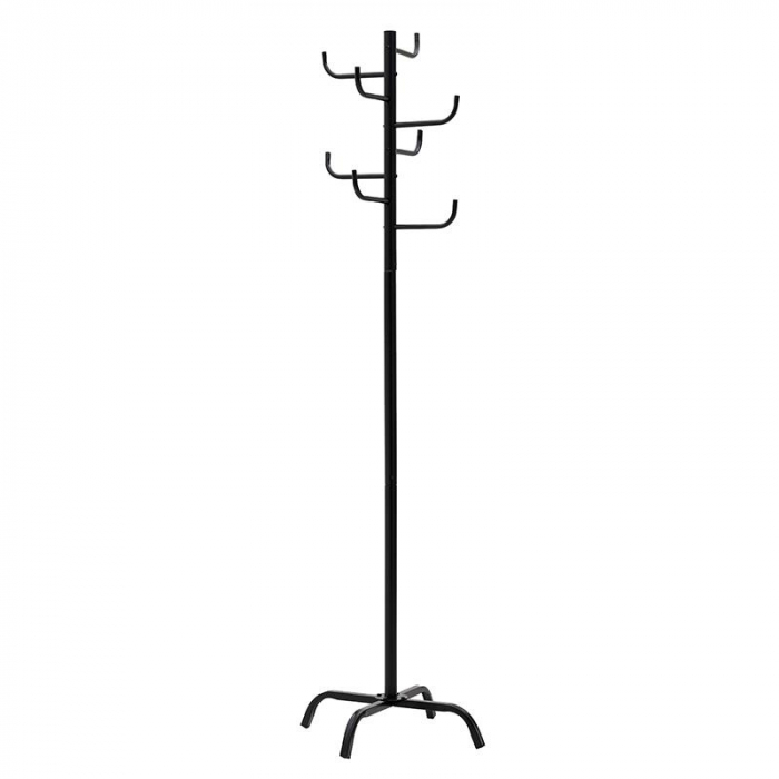 Cuier metal culoarea neagra inaltime 175 cm, baza 50x50cm 0