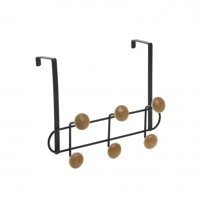 Cuier metal si lemn cu 3 carlige  pentru usa  30Χ6Χ20 cm 1