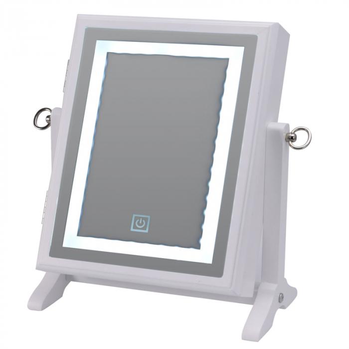 Cutie bijuterii din MDFcu oglinda si 40 LED, culoare alba, dimensiuni 32x23x6.5 cm 0